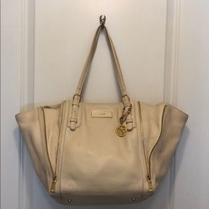Dkny Bags - DKNY white leather tote bag